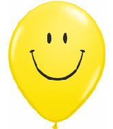 "5"" Yellow Smile Face 100 per bag"