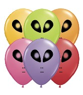 "5"" Space Alien Festive Assortment 100 per bag"