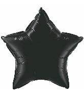 "36"" Star Foil Mylar Balloon Onyx Black"