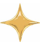 """20"""" Airfill Only Metallic Gold Starpoint Balloon"""