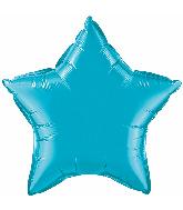 "36"" Star Foil Mylar Balloon Turquoise"