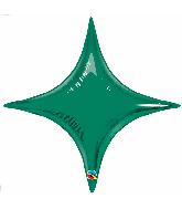 "20"" Airfill Only Emerald Green Starpoint Balloon"