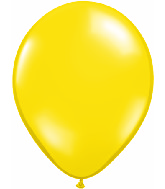 "5""Qualatex Latex Balloons CITRON YELLOW    translucent 100CT"