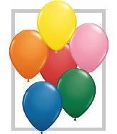 "9""  Qualatex Latex Balloons  STANDARD ASSORT   100CT"