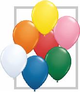 """9""""  Qualatex Latex Balloons  STD ASSORT W/WHT  100CT"""