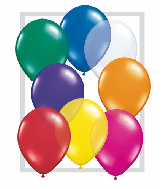 "11""  Qualatex Latex Balloons  JEWEL ASSORT      100CT"