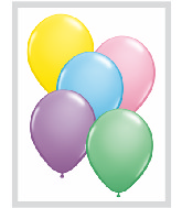 "11""  Qualatex Latex Balloons  PASTEL ASSORT     100CT"