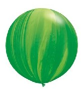 "30"" Green Rainbow SuperAgate Balloons (2 Count)"