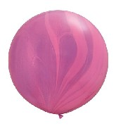 "30"" Pink Violet Rainbow SuperAgate Balloons (2 Count)"