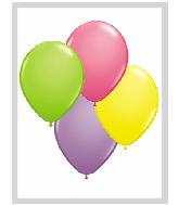 "11""  Qualatex Latex Balloons  SPRING ASSORT     100CT"