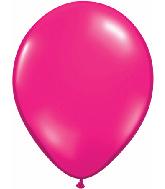 "11"" Qualatex Latex Balloons 25 Per Bag Jewel Magenta"