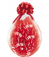 "18"" Stuffing Balloons I Love You-A-Round Clear (25 Count)"