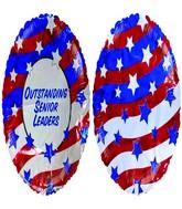 """18"""" Outstanding Senior Leaders American Flag"""