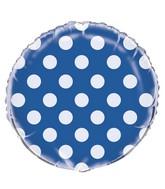 """18"""" Royal Blue Polka Dots Balloon"""