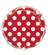 """18"""" Packaged Red Polka Dots Balloon"""