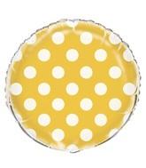 "18"" Sunflower Yellow Polka Dots Balloon"