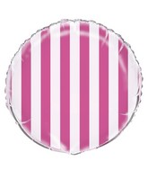 "18"" Hot Pink Stripe Balloon"