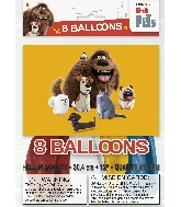 """12"""" 8 Count Latex Balloons - The Secret Life of Pets"""