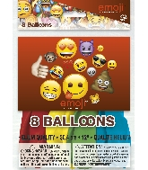 "12"" 8 Count Latex Balloons - Emoji"