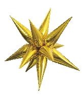 """40"""" Gold Jumbo Star-Burst Balloon Airfill Only"""