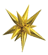 "27.5"" Star-Burst Balloon Gold Airfill Only"