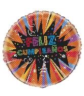 "18"" Foil Balloon - Starburst Feliz Cumpleanos"