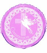 "18"" Dove Cross Pink Communion"
