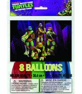 """12"""" Teenage Mutant Ninja Turtles Assorted Colors 8 Count"""
