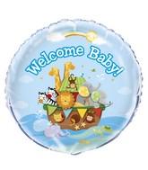"18"" Foil Balloon Welcome Baby Noah's Ark"
