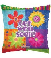 "4"" Airfill Get Well Floral Blocks"
