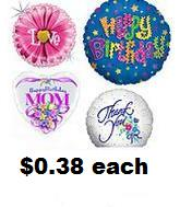 """100 Assorted 18"""" Balloons Packaged (Double Checking Area)"""