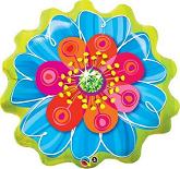 "31"" Blue & Orange Jeweled Blossom Jumbo Balloon"
