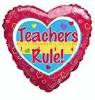 """9"""" Airfill Only Balloon Teachers Rule!"""