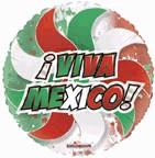 """36"""" Viva Mexico! Transparent Balloon"""