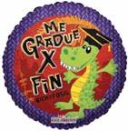 """9"""" Airfill Only Me Gradue Por Fin Dino Balloon"""