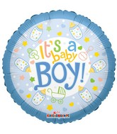 """9"""" Airfill Only Its A Baby Boy Bottle Balloon"""
