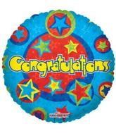 """18"""" Congrats Blue Stars"""