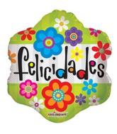 """18"""" Felicidades Flores Mylar Balloon"""