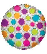 "18"" Decorative Circles Mylar Balloon"