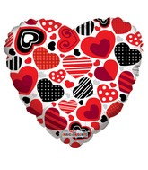 """18"""" Decorative Hearts with Patterns"""