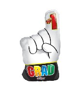 "20"" #1 Grad Hand Balloon"