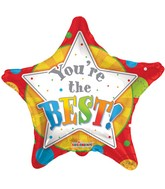 "18""  You Are The Best Star Shape Balloon"