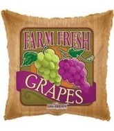 "18"" Farm Fresh Grapes Mylar Balloon"