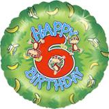 """18"""" Age 6 Monkey Balloon"""