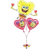 3 Balloon Bunch Spongebob Valentine