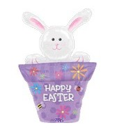 "31"" Bunny in Flower Pot Super Shape"