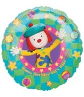 "18"" Jo Jo's Circus Birthday Fun Balloon"