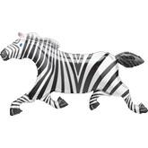 "41""  Jumbo Zebra Shape Mylar Balloon"
