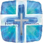 """18"""" First Holly Communion Blue"""