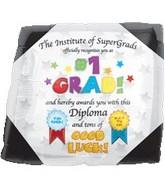 """18"""" Supershape #1 Grad Diploma"""